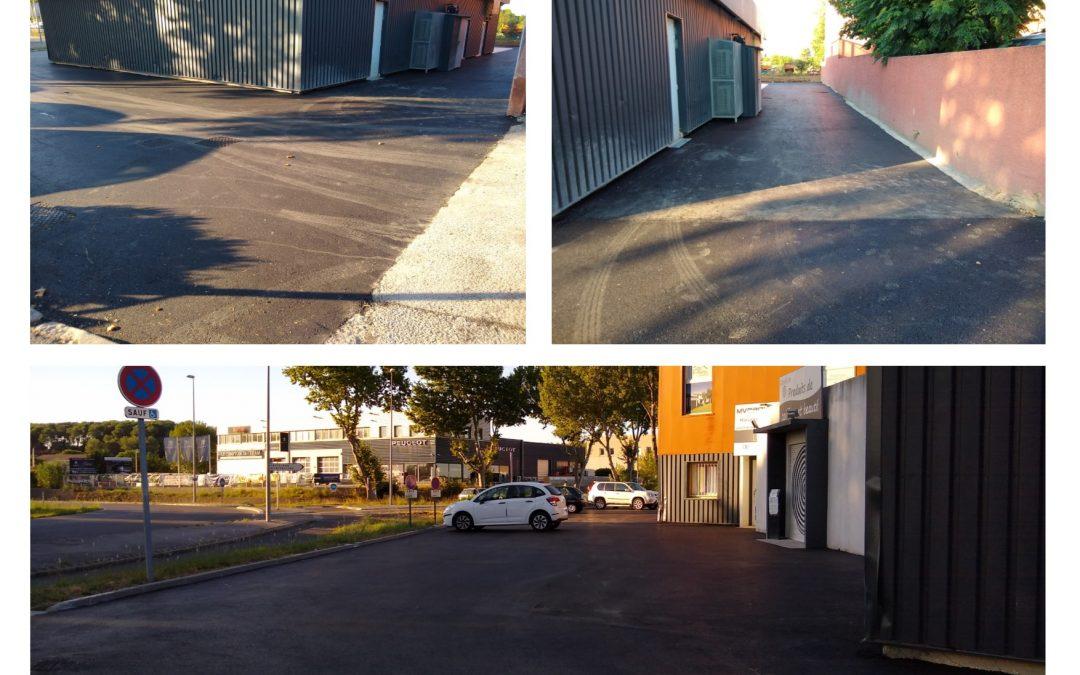 Réalisation de travaux pour un nouveau parking